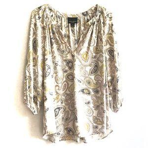 CYNTHIA ROWLEY WOMAN Boho Paisley Blouse Size 1X